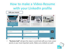 How to make a Video-Resume ...