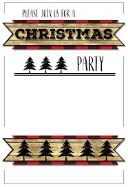 Template For Christmas Party Invitation Christmas Party Invitation Templates Free Printable Paper Trail Design