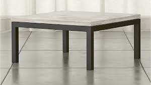 parsons square coffee table with