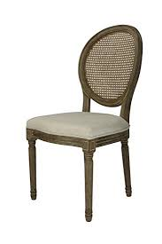 beige cane louis dining chair set of 2
