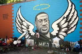 George Floyd mural vandalized ...