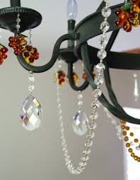 decorating with magnetic garland transform a bland wrought chandelier into a crystal chandelier in seconds