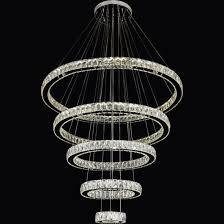 ring crystal pendant light modern led crystal chandelier lighting