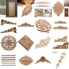 wood appliques for furniture. Wood Carved Corner Onlay Vintage Applique Frame Wall Doors Furniture Decorative Appliques For