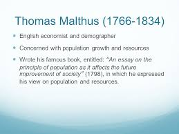 views on population thomas malthus and others f block  3 thomas