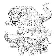 Dinosauri Da Stampare E Colorare Con Rettili Da Colorare E Disegni