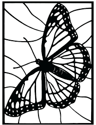 Glass Coloring Pages Stained Printable Simple Window Christmas