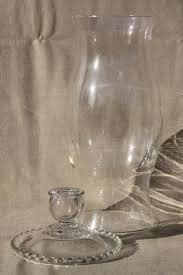 large clear glass hurricane lamp for candles vintage chimney shade candle holder