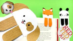 diy cute and easy bookmark ideas how to make a bookmark diy kawaii dog emoji diy so cute red ted art