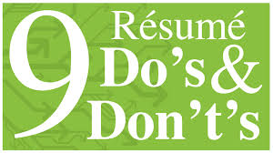 Resume Dos And Don Ts Resume Do's And Don'ts YouTube 18