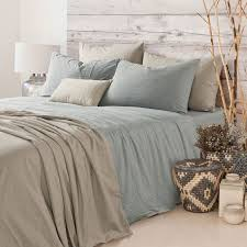 duck egg blue duvet cover is a great laid back neutral for the bed