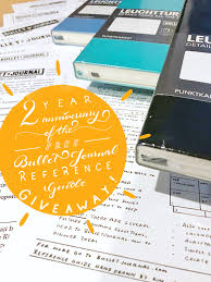 Massive Bullet Journal Giveaway Celebrating 2 Years Of The Free