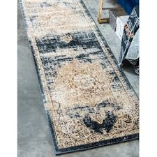 N Abbeville Power Loom Dark Blue Area Rug
