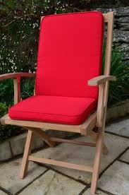 red seat pad back chair cushions and