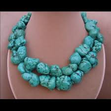 etsy jewelry reduced genuine turquoise necklace ala megan fox