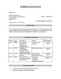Best Career Objective For Finance Resume With Additional 29 Sample