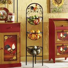 image of country rooster decor for kitchen