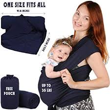 Amazon.com : Baby Sling Wrap Carrier for Newborn - Wearing Infant ...