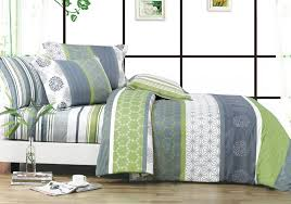 serene 3 piece 100 cotton duvet cover set with two shams