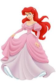 Disney princess ariel, Ariel pink dress ...