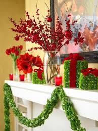 Christmas mantel decoration