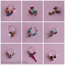 diy champange or wine glass charms by little pink monster