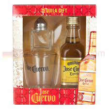jose cuervo especial gold tequila 5cl set with shot gl and salt shaker