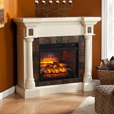 boston loft furnishings 44 5 in w ivory infrared quartz electric fireplace