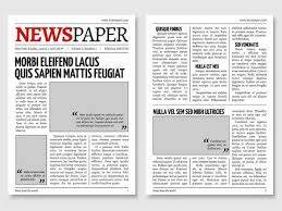 Newspaper Template Stock Photos And Images 123rf