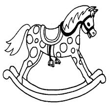 Disegno Di Cavallo A Dondolo Da Colorare Per Bambini Con Immagini