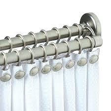 double straight shower rod chrome