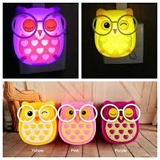 kids plug in night light us plug cartoon owl light led animal nightlight auto control sensor lamp child kids baby lights childrens plug in night light