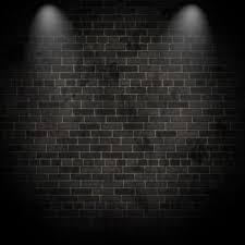 black wall texture. 3d Render Of Spotlights On A Grunge Brick Wall Black Texture O