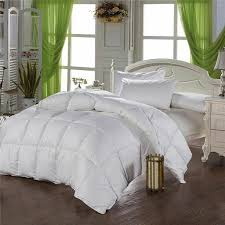 details about white goose down comforter duvet covers winter quilt blanket filler cotton cover