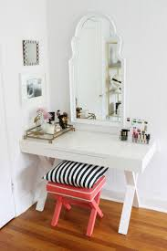 magnificent entrancing white vanity table mirror and charming white wall plus mesmerizing black and white striped