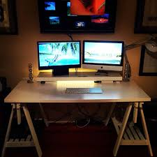 ikea desk hack finnvard trestles and linnmon table top to make the desk ribba