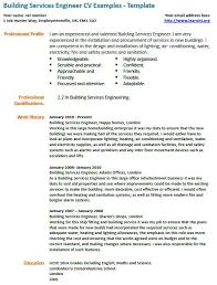 Building Services Engineer Cv Example Learnist Org