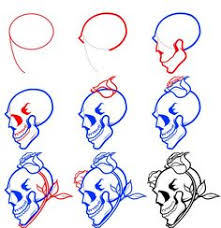 Small Picture How to draw a human skull step by step Drawing tutorials for kids