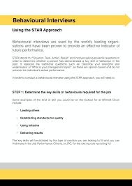 Star Approach Interview Behavioural Interviews Using The Star Approach