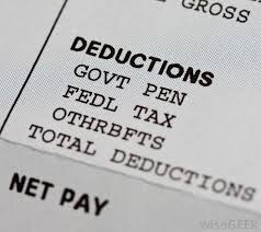 Employee Payroll Deductions Calculator Pay Tax Pay Tax Deduction Calculator