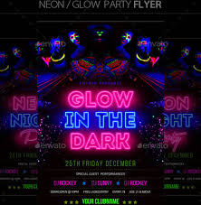 glow flyer glow in the dark party flyer oyle kalakaari co