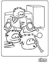 Small Picture Club Penguin Puffle Coloring Pages Coloring Home