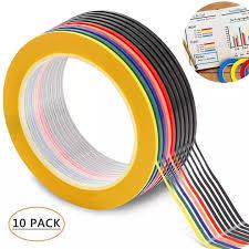 Chart Tape Buyinbulk Graphic Art Tape 10 Packs 3mm Chart Tape Grid Marking Tape Pet Whiteboard Tape Self Adhesive Decorating Tape Artist Tape