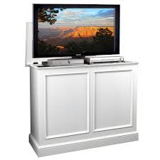 tv hideaway furniture. Appealing White Wood Motorized Tv Lift Cabinet Design With Screen For Contemporary Living Room Decor Viewing Gallery Hideaway Furniture G