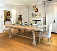 Montague Large Weathered Oak Rectangular Dining Table La Residence