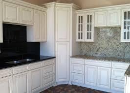 white glazed kitchen cabinets style