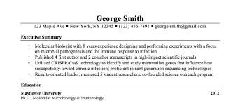 Bioinformatics Resume The Most Important Thing On Your Resume The Executive Summary