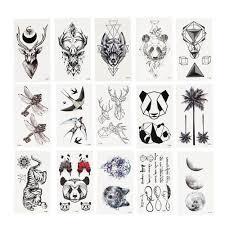 Geometry Cool Dočasné Tetování Samolepka ženy Minimalistické Linie Vzor Body Art Nový Design Fake Men Tetování At Vova