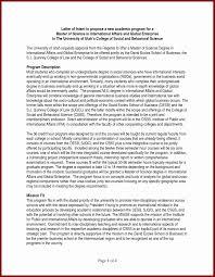 Letter Of Intent Sample For Doctoral Program Best Letter Intent
