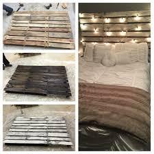 wood pallet bed frame diy craft